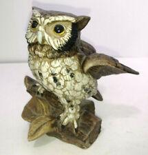 Ceramic Owl Figure, BLUE MARKINS ON BOTTON