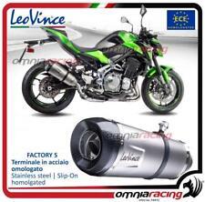 Leovince Factory S - Slip-on exhaust inox homologated for KAWASAKI Z900 2017>