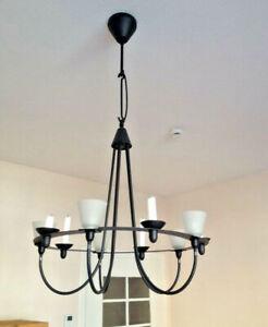 Modische Deckenleuchte Eisen LED Lampe Moderner Kronleuchter mit 4 Lichthaltern
