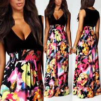 2017 New Ladies Womens Maxi Boho Summer Long Skirt Evening Cocktail Party Dress