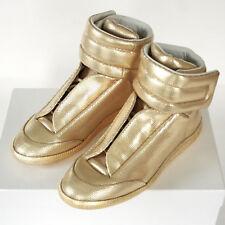 MAISON MARTIN MARGIELA metallic gold shoes hi-top Future sneakers 40 / 7 NEW