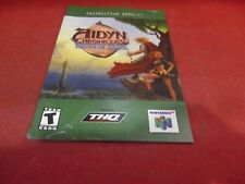 Aidyn Chronicles the First Mage Nintendo 64 N64 Instruction Manual Booklet #D1