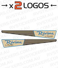 OLYMPIC RIVIERA Caravan decal, sticker, vintage, graphics x 2