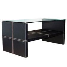 Mesas de color principal negro de vidrio para el hogar