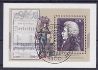 Bund Block 26 mit ESST Ersttag SST Bonn Wolfgang A. Mozart 1991, used