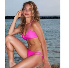 NWT Luli Fama women size XS Borrachera Too Hot Miami Zig Zag cut out bikini top