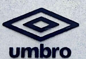 Navy Blue Retro Umbro diamond logo rounded corners Heat Press on football shirt