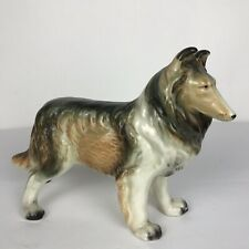 Vintage Rough Collie Sheltie Dog Figurine Made in Japan Standing