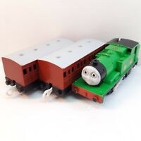 Oliver Motorized Coach x2 Thomas the Tank Engine Trackmaster Plarail Train TOMY