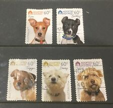 Australian 2010 Dogs Australia set of 5 S/A stamps used