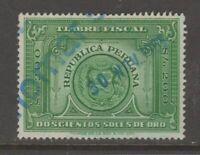 Peru fiscal revenue cinderella stamp 5-31-85