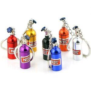 Mini NOS Flasche Oxid Nitro Pillenbox Auto Schlüsselanhänger Schlüsselring KRN01