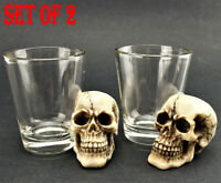 [Set of 2] Skull Shot Glass Skull Head Pirate Shot Glass for Wine Vodka Whiskey