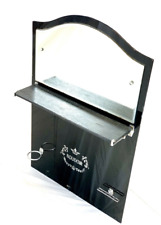 Vintage Black & Chrome Bathroom Mirror 'Boudior', Shabby Chic, Beautiful