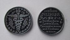 i God bless nurses nurse love compassion kindness POCKET TOKEN CHARM caregiver