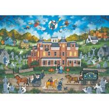 BONNIE WHITE GALLERY JIGSAW PUZZLE HALLOWEEN FRIGHT NIGHT 1000 PCS #39359