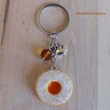 Portachiavi biscotto occhio di bue marmellata fimo dolce creato a mano regalo