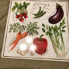Cork Placemats Vegetables On White Background