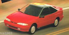 1995 HYUNDAI EXCEL / SONATA / SCOUPE / ELANTRA Brochure / Catalog: GLS,LS,Turbo,