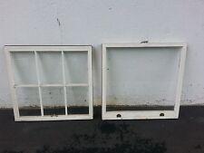 "One old vintage plain glass window set multi purpose restoration 28 1/2"" wide"