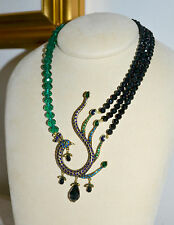 "NIB $280 HEIDI DAUS ""A Fabulous Feathered Friend"" Swarovski Crystal Necklace"