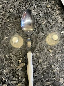"Cutco 17 KD Vintage Serving Spoon Basting White Pearl Handle 12"""