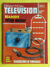 PRACTICAL TELEVISION - August 1969 - Handy Volt Analyser - Hobby Magazine