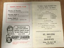 19 April 1968 - St Helens v Halifax - League Championship 1st Rd