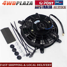 "7"" PULL PUSH CURVED BLADE RADIATOR ELECTRIC THERMO COOLING FAN +MOUNTING KITS"