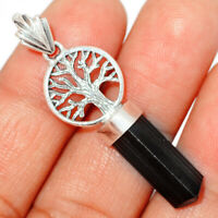 Tree Of Life - Black Tourmaline Point 925 Silver Pendant XGB Jewelry BP27794