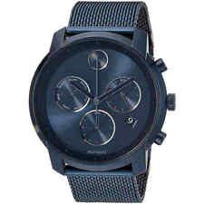 Movado Men's Watch Bold Quartz Blue Dial Stainless Steel Mesh Bracelet 3600403