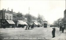 Poplar. East India Dock Road Looking East by G.Dodd & Son, Poplar. Tram.