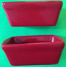 2 RED CERAMIC BABY LOAF PAN NEW!