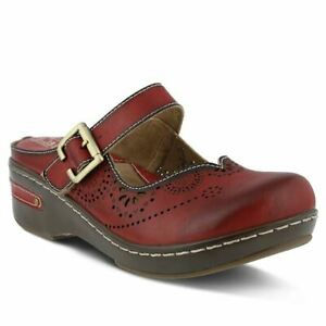 Spring Step L'artiste Aneria Leather Clog Red