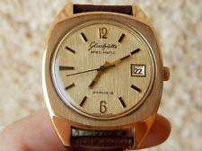"Rare Glashutte automatic-Spezimatic""gold tree bark""dial,1970s,movement 26 rubis"
