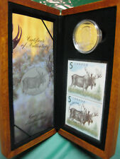2004 Canada Majestic Moose $5 Silver Proof Coin & Stamp Set