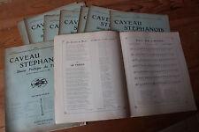 LOT Revue LE CAVEAU STEPHANOIS - Union poétique du FOREZ - Chansons, poèmes 1909