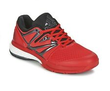 New Mens adidas Stabil Boost Indoor Court Athletic Shoes Size 11.5 Red MSRP $140