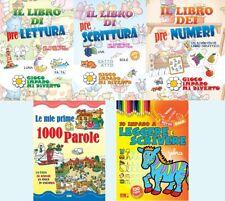 Lotto 5 libri NUOVI - Pacchetto LIBRI DIDATTICI BAMBINI - raccolta stock libri