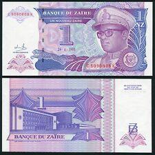 Congo Zaire 1 nouveau zaire 1993.06.24 Mobutu P52 UNC