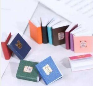 Doll House Accessories 1:12th Miniature - Set 4 of Mini Books (books open)