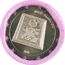 Ek // Rouleau 2 Euro Malte 2015 République 1974 : 25 Pièces