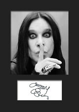OZZY OSBOURNE #1 Signed Photo Print A5 Mounted Photo Print - FREE DELIVERY