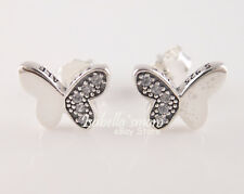 BUTTERFLY Authentic PANDORA Silver/ZIRCONIA Earring Studs 290693CZ NEW w POUCH!