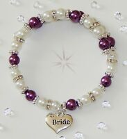 FAMILY MEMBER CHARM PEARL BRACLET FIT OLDER CHILD/ADULT VARIOUS COLOURS   GIFT