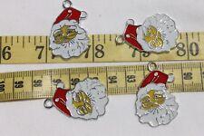30x20mm Enamel Christmas Santa Alloy Pendant Charm Crafts Jewelry 4pc / RS67