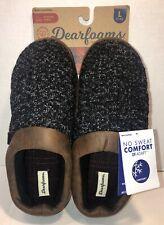 Dearfoams Men's Clog Slipper Size L 11~12 Black/brown  NEW