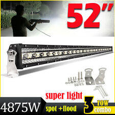 52inch 4875W Tri-row LED Light Bar Combo Beam Lamp for Offroad Truck SUV ATV 50""