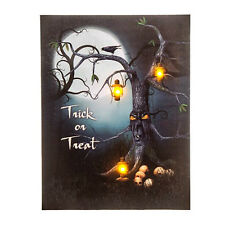 Creepy Haunted Tree Halloween LED Lighted Picture Light Up Lanterns Canvas Decor