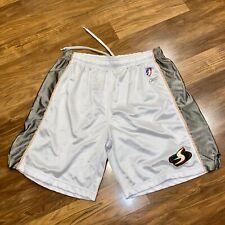 Reebok Seattle Storm Basketball Shorts Wnba White Pink Gray Mesh vtg Adult Xl